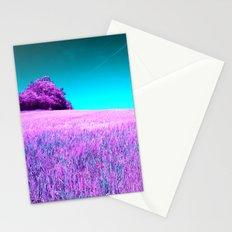 purple corn field II Stationery Cards