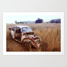 Rusty, broken and forgotten Art Print