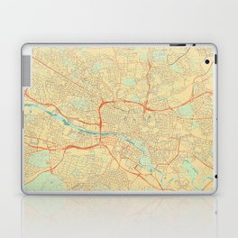 Glasgow Map Retro Laptop & iPad Skin