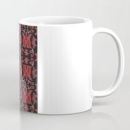 Red & Black Slavic Patterns Coffee Mug