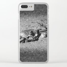 Atlantic ghost crab on the beach sand Clear iPhone Case