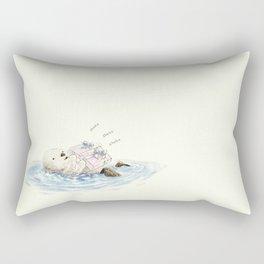 sea otter's birthday Rectangular Pillow