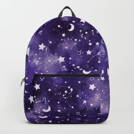 Zodiac Watercolor Ultraviolet Backpack