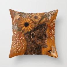 The Face Vase Throw Pillow