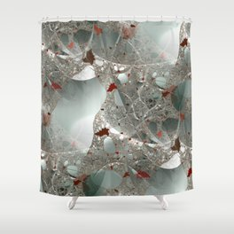 Tangled in the fractal mist Shower Curtain