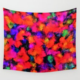 Bright Rainbow Colors Wall Tapestry