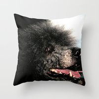 poodle Throw Pillows featuring poodle by Richard PJ Lambert