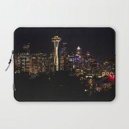 Seattle Cityscape At Night Laptop Sleeve