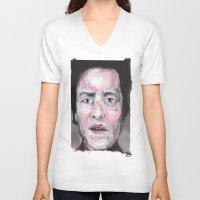 christopher walken V-neck T-shirts featuring Christopher Walken by Be Sound Art