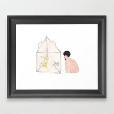 BEAR IS WATCHING US Framed Art Print