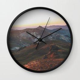 View from Wetterhorn Peak Wall Clock