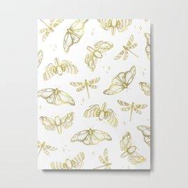 Golden Wings Metal Print