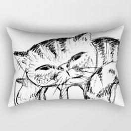 Too lazy cat Rectangular Pillow
