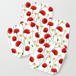 Poppies and daisies Coaster