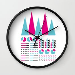 Infographic Selection Wall Clock