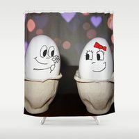 egg Shower Curtains featuring Egg Love by Nicklas Gustafsson