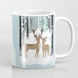 Winter Deer by Andrea Lauren  Coffee Mug