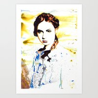 amy pond Art Prints featuring Karen Gillan (Amy Pond) by TheJollyRambler