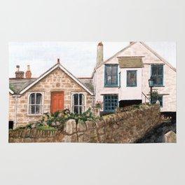 Mousehole Fishermans' Cottages UK Rug