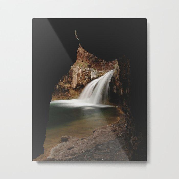 Fossil Creek Cave Metal Print