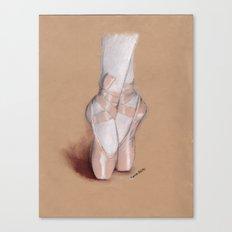 Ballet Pointe Shoes. Canvas Print