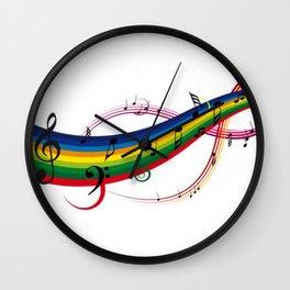Colorido pentagrama Wall Clock