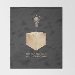 Good ideas – black Throw Blanket