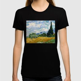 Wheat Field with Cypresses - Vincent van Gogh T-shirt
