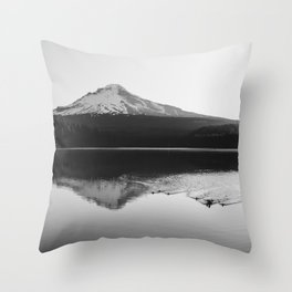 Wild Mountain Sunrise - Black and White Nature Photography Throw Pillow