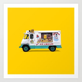 Kool Man Ice Cream Truck Art Print