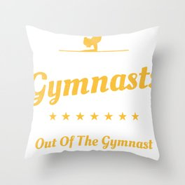 Girl Gymnast Acrobatic Gymnastic Team Funny Gift Throw Pillow