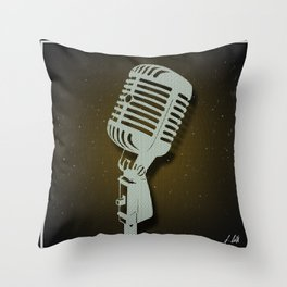 Classic Microphone Throw Pillow