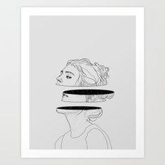 Celestial slices Art Print