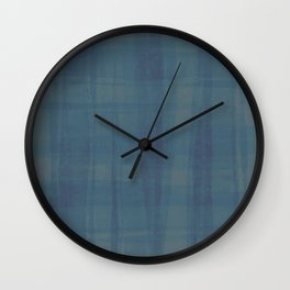 Veiled in Teal Wall Clock