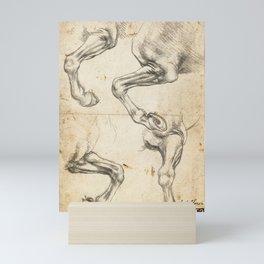 Da Vinci Horse Leg Study By Da Vinci Mini Art Print