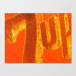 Orange Flavored 7-Up Canvas Print