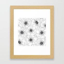 White Anemones Framed Art Print