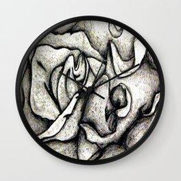 Graphite Flower Wall Clock