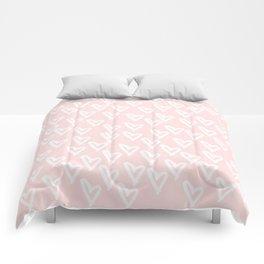 White hearts Comforters