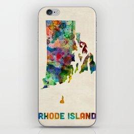 Rhode Island Watercolor Map iPhone Skin