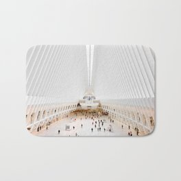 The Oculus at the World Trade Center   Calatrava #architecture #society6 Bath Mat