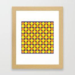 Golden Heptagons Framed Art Print