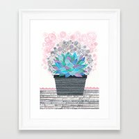 succulent Framed Art Prints featuring succulent by Asja Boros