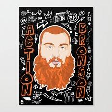 Action Bronson Portrait Canvas Print