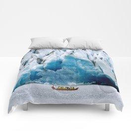 Ride to the Alaskan Glacier Comforters