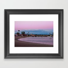 Belmont Shore Bay Framed Art Print