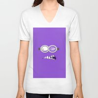minion V-neck T-shirts featuring MINION by Acus