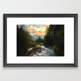 The Sandy River I - nature photography Framed Art Print