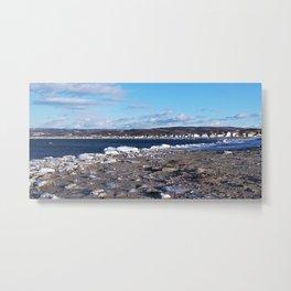 The Cove in Winter Metal Print