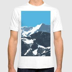 swiss mountains Mens Fitted Tee MEDIUM White